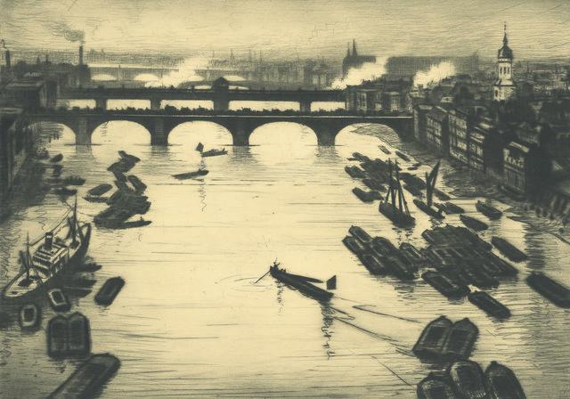 , 'London Bridges,' ca. 1920, Osborne Samuel