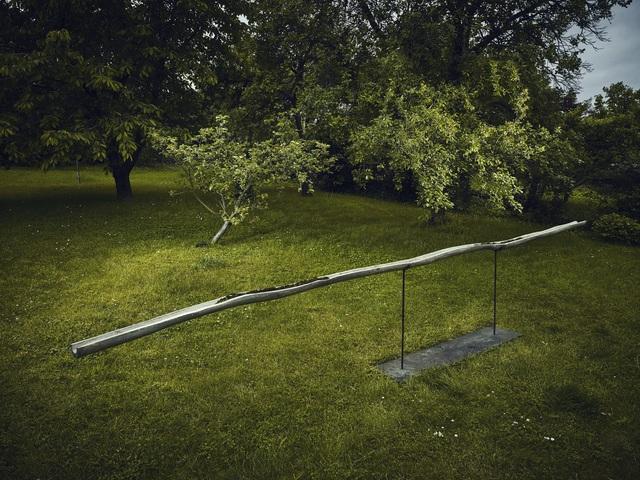 Lada Semecká, 'DRAIN', 2019, Sculpture, Wood, metal, cast glass, moss, Galerie Kuzebauch