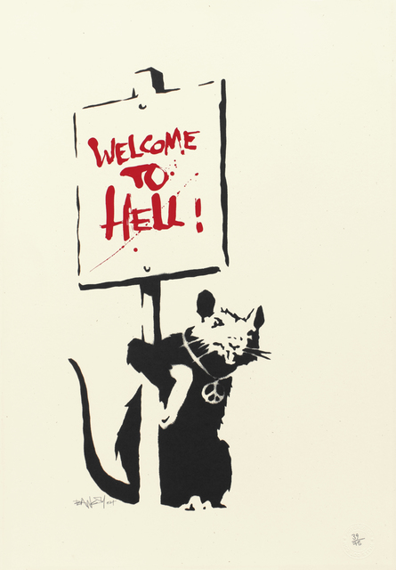 Banksy, 'Welcome to Hell', 2004, Lazinc