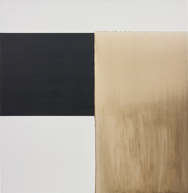 Callum Innes, 'Exposed Painting Charcoal Grey/ Yellow Oxide', 1999, Phillips