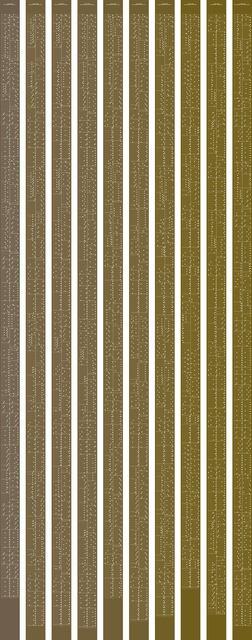 , 'metamorphosis music notation numeral 5,' 2015, Johan Deumens Gallery