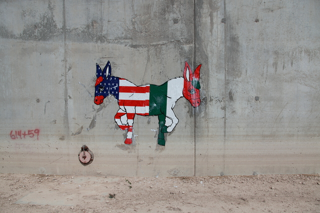 , 'Two-Headed Donkey on the U.S.-Mexico Border Wall,' ca. 2011, Cantor Fitzgerald Gallery, Haverford College