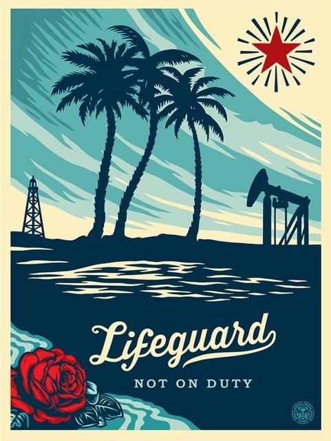Shepard Fairey, 'Lifeguard Not On Duty', 2014, Dope! Gallery