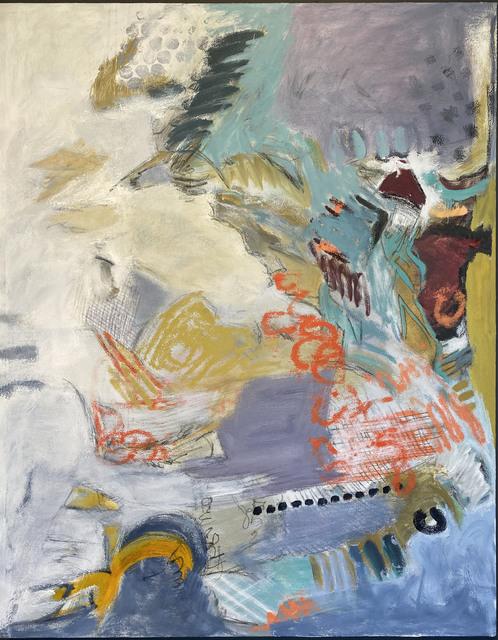 Sherry Giryotas, 'TREADING THE ALPINE', 2020, Painting, Oil on canvas, Judy Ferrara Gallery
