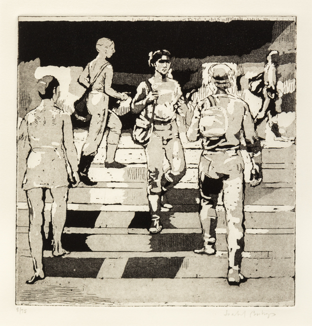 Isabel Bishop, 'Entrance to Union Square', 1981, Print, Etching and aquatint, Hindman