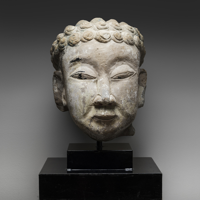 , 'Stone Head of Buddha,' 960 AD to 1279 AD, Barakat Gallery