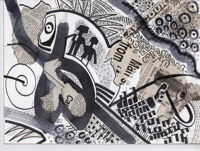 Patrick Tagoe-Turkson, 'Tsina Famu (Sit Down)', ca. 2010, Print, Canvas, Nubuke Foundation (Ghana)