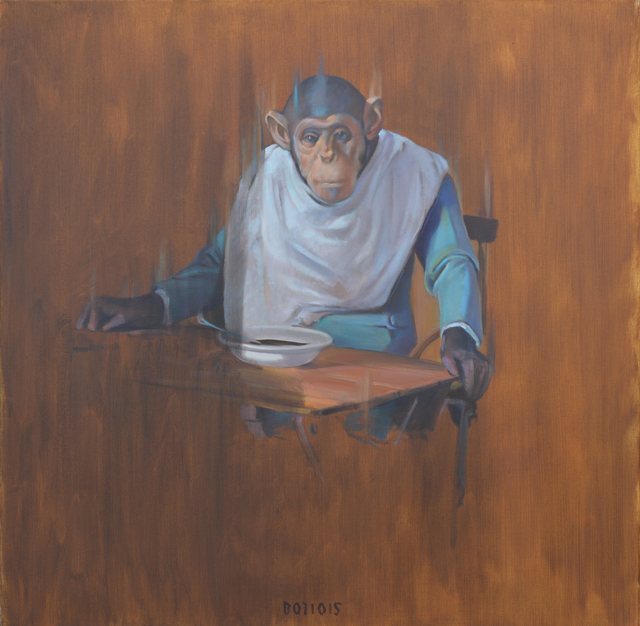 , 'Monkey at a table,' 2015, Galerie Sandhofer