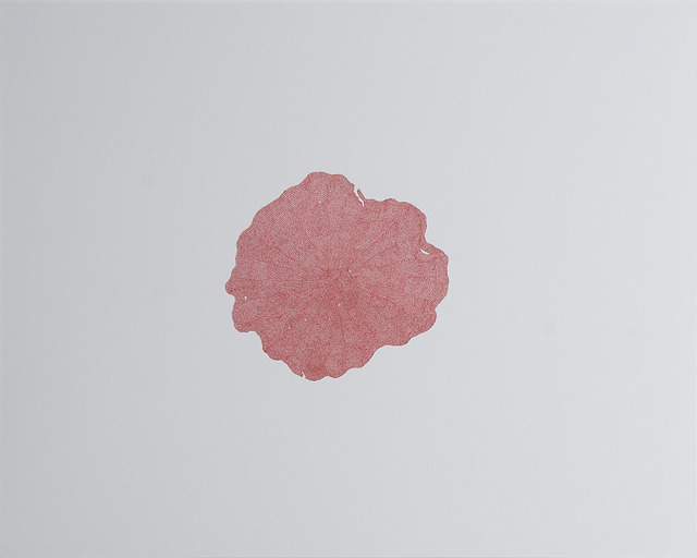 , 'Inflections of choral red,' 2018, Sabrina Amrani