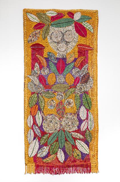Sanaa Gateja, 'Inner Garden II', 2019, Textile Arts, Paper and acrylic stitched on bark cloth, 50 Golborne