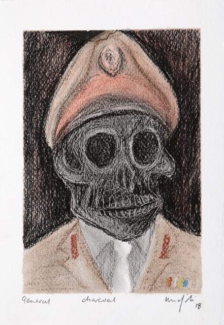 Richard Mudariki, 'General', 2017, Drawing, Collage or other Work on Paper, Charcoal, Barnard