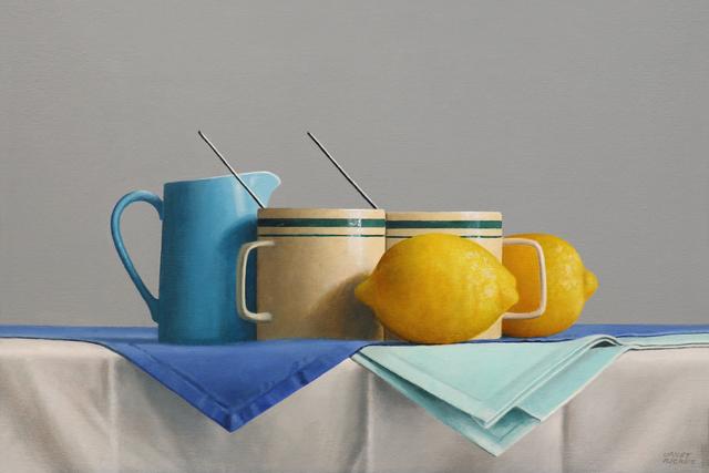 , 'Griffin's Green Striped Mugs,' 2019, Gallery Henoch