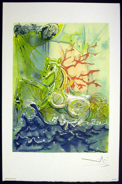 Salvador Dalí, 'Neptune', 1983, Print, Lithograph on vélin d'Arches paper, Samhart Gallery