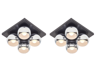 Pair of Mirage ceiling lights, Italy