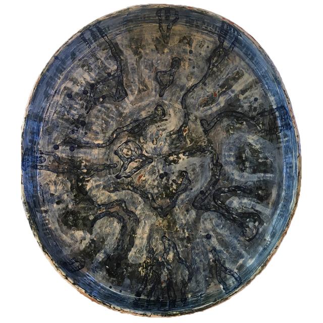 , 'Deep blue ornamental plate II,' 2018, Galleri Format Oslo