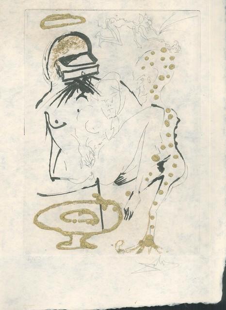 """Salvador Dalí, 'Duel aux Camélias - from """"Les Amours Jaunes""""', 1974, Wallector"""