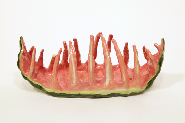 , 'Watermelon Ribs 2,' 2016, Burning in Water