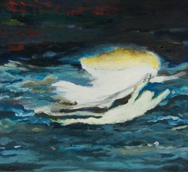 , 'Phantom schwimmer / Oel auf Leinen 34 x 37 cm,' , LICHT FELD Gallery