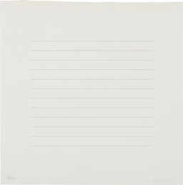 Agnes Martin, 'Untitled,' 1973, Phillips: Evening and Day Editions (October 2016)