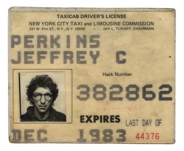 , 'Taxi licence,' 1983-2002, Galerie Sébastien Bertrand