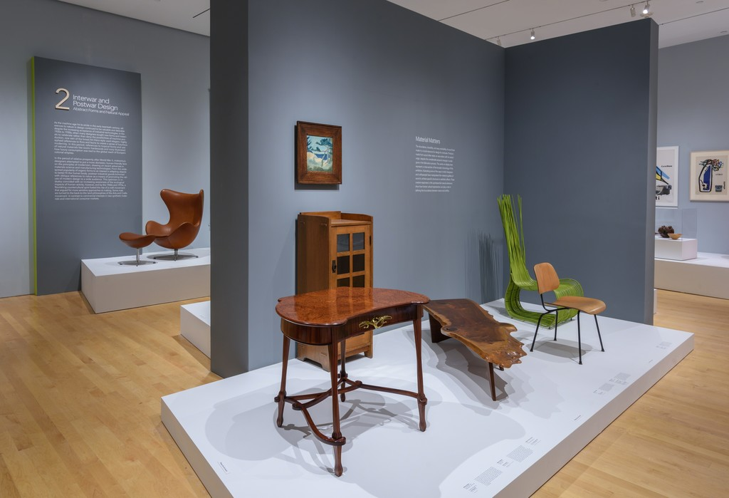 "Installation Photograph of ""Channeling Nature by Design"" Courtesy of the Philadelphia Museum of Art."