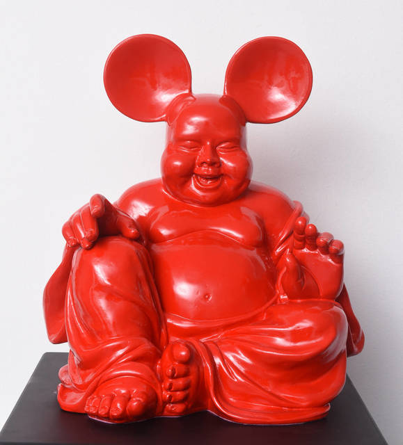 , 'Red Boud'key - Fusion of Buddha and Mickey,' 2015, Gauchet Fine Art