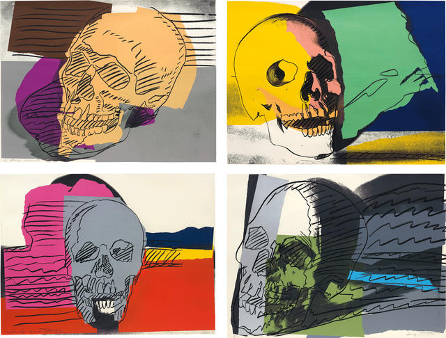 Andy Warhol, 'Skulls', 1976, Print, The complete set of four screenprints in colours, on Strathmore Bristol paper, the full sheets., Phillips