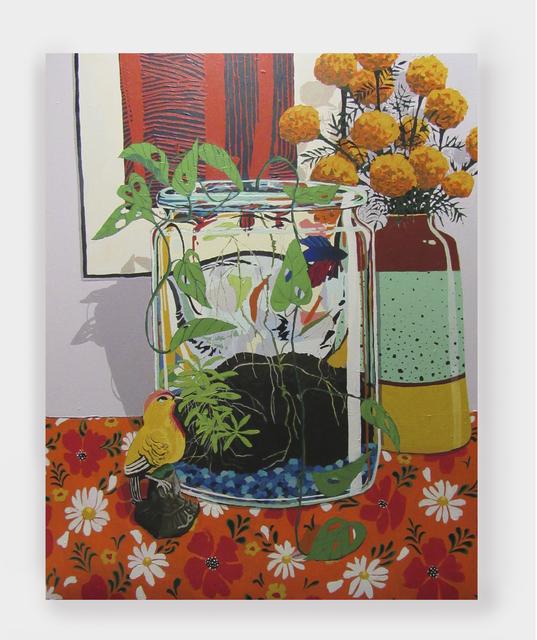 , 'Fish and Bird,' 2019, Rachel Uffner Gallery