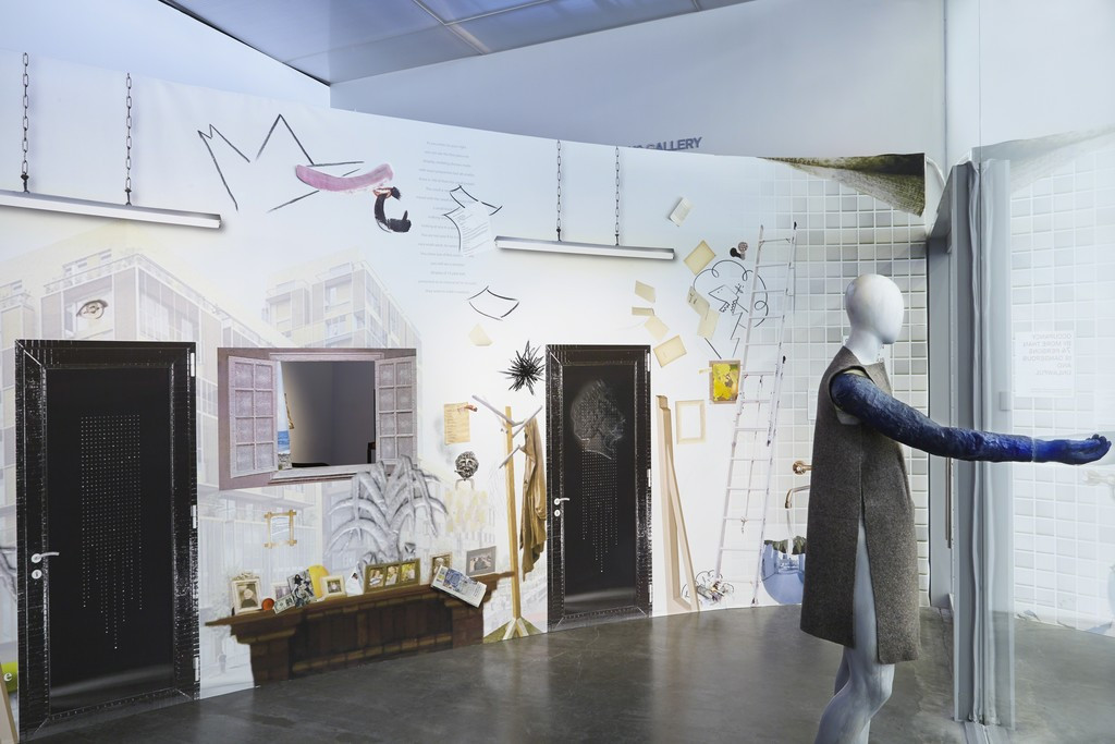 "Installation view, ""Laure Prouvost: For Forgetting"" at the New Museum"
