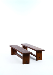 Two S14 benches in elm
