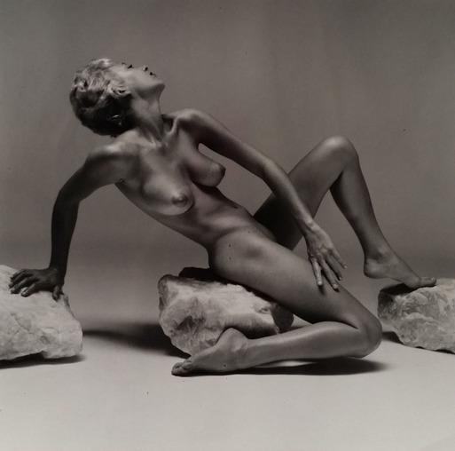 André de Dienes, 'Nu pose sur pierre', 1960, Kunzt Gallery