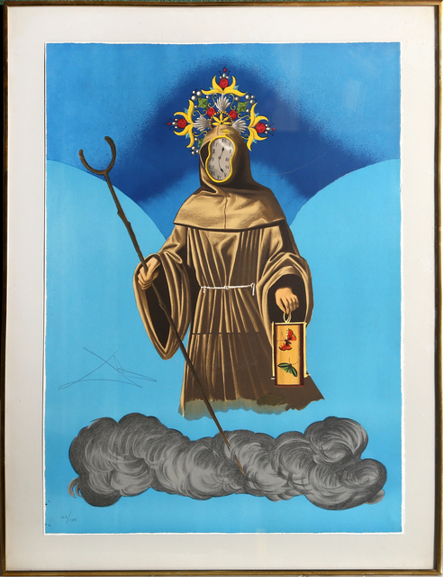 Salvador Dalí, 'Mystery of Sleep (The Hermit)', 1976, Print, Lithograph, RoGallery