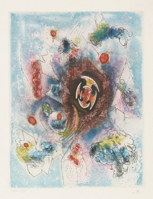 Roberto Matta, 'Le Conmer from Hom'mere III - L'Ergonaute', 1966-1967, Print, Etching and aquatint on Japon Paper, signed and numbered in pencil, RoGallery