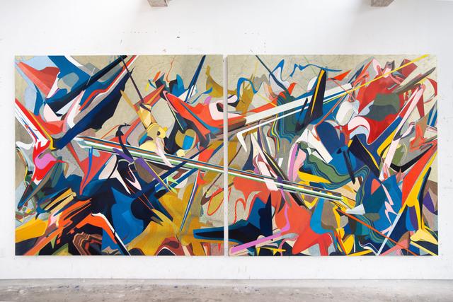 Omar Rodriguez-Graham, 'Solo los muertos han visto el final de la guerra (Después de Tiepolo', 2019, Painting, Oil on linen, Arróniz Arte Contemporáneo