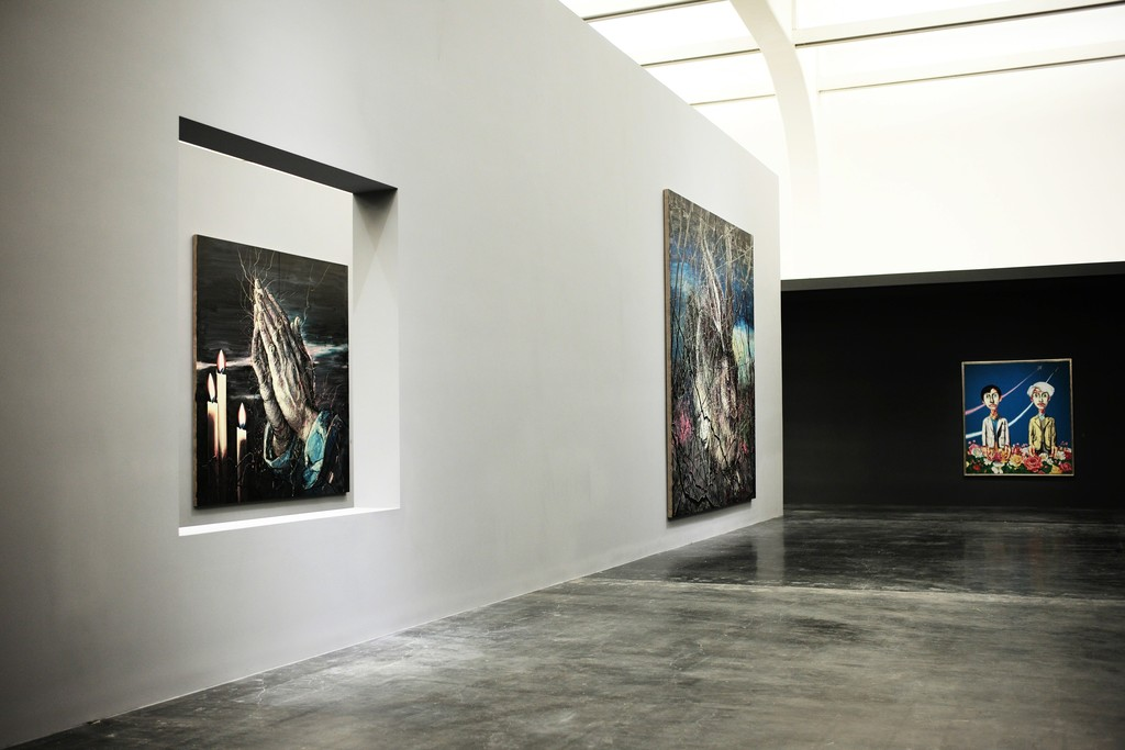 """Installation view of """"Zeng Fanzhi: Parcours"""" at UCCA, Beijing (2016). Image courtesy of UCCA."""