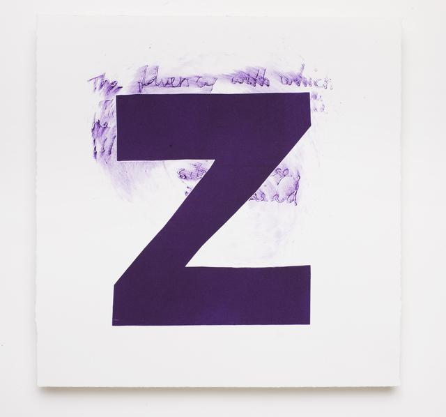 Magne Furuholmen, 'alpha-beta 'Z'', 2009, Print, Monotype with drypoint on Somerset 410gsm white satin, Paul Stolper Gallery