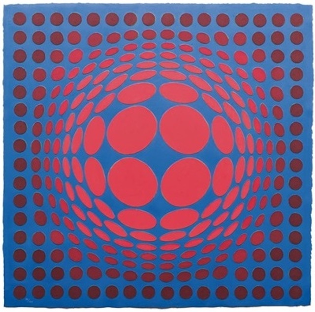 Victor Vasarely, 'Sinlag II', 1990, Print, Cast paper relief in colors, Gregg Shienbaum Fine Art