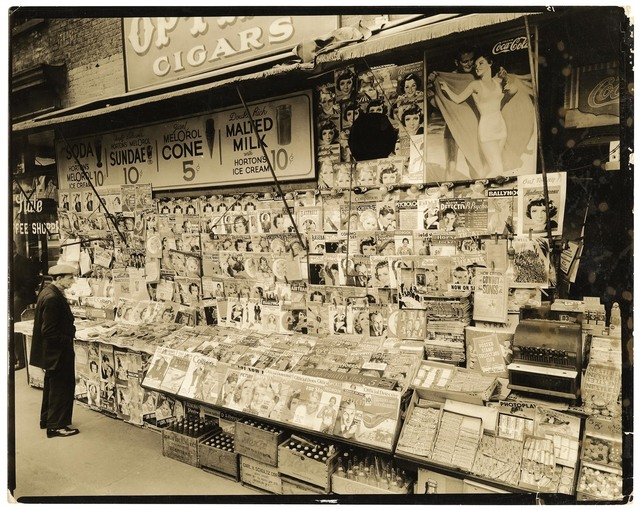 , 'Newsstand.  32nd Street and 3rd Avenue, Manhattan.,' 1935, The Old Print Shop, Inc.