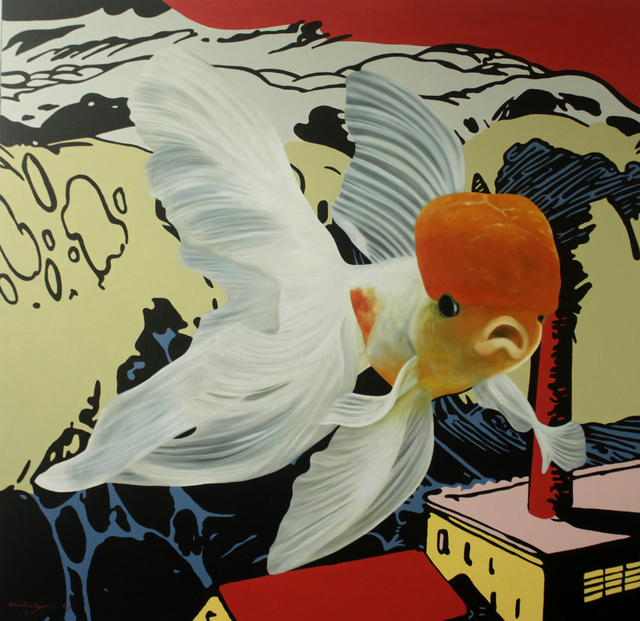 , 'Swim or Drown, Red Cap Oranda,' 2012, Di Legno Gallery