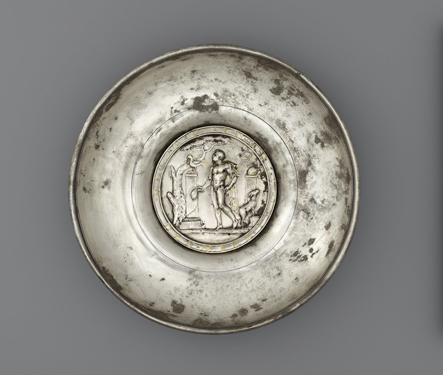 , 'Offering Bowl with a Medallion of Mercury in a Rural Shrine,' 175-225, Legion of Honor