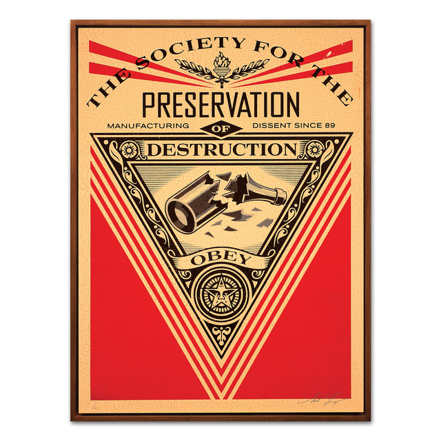 Shepard Fairey, 'The Society for the Preservation of Destruction', 2015, MLTPL