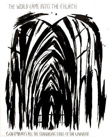 Raymond Pettibon, 'The World Came into the Church', 1990, David Lawrence Gallery
