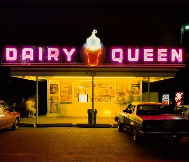 Jim Dow, 'Dairy Queen at Night, US 6, Iowa City, Iowa', 1988, Robert Klein Gallery