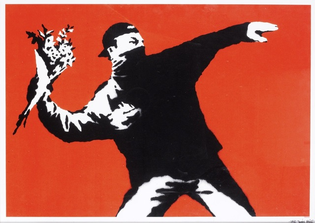 Banksy, 'Love Is In The Air / Flower Thrower (Unsigned)', 2003, Prescription Art