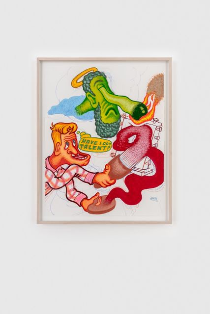 Peter Saul, 'Have I Got Talent', 2020, Drawing, Collage or other Work on Paper, Acrylic, colored pencil on paper, Almine Rech