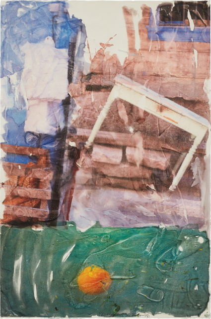 Robert Rauschenberg, 'Orange Float (Anagram)', 1996, Drawing, Collage or other Work on Paper, Vegetable dye transfer on paper, Phillips