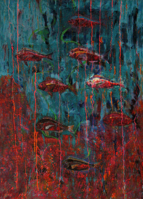 , 'The far side of Apo Island (detail),' 1989, Pacita Abad Art Estate