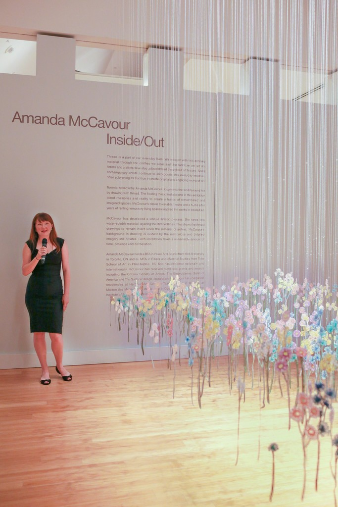 Amanda McCavour: Inside/Out. Installation view at the Virginia Museum of Contemporary Art. Photograph by Fresh Look Photography