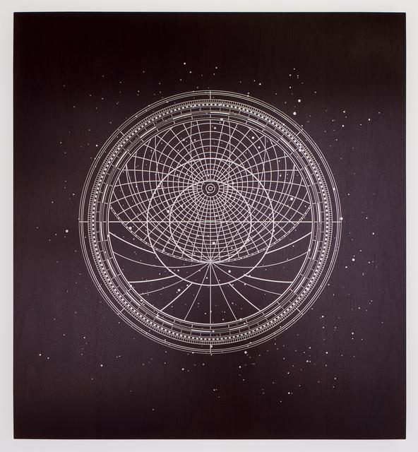 , 'It's always night, or we wouldn't need light_41° 89` 77 N, 12° 47` 79  (Galileo Galilei),' 2015, Sfeir-Semler