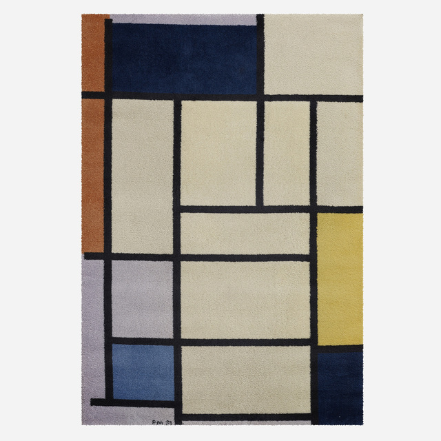 After Piet Mondrian, 'Composition with Red, Yellow and Blue carpet', 1921, Wright